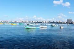 Vista del mare & peschereccio Fotografia Stock