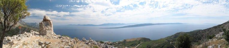 Vista del mare sopra Makarska riviera Fotografia Stock