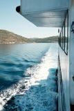 Vista del mare del traghetto Fotografie Stock