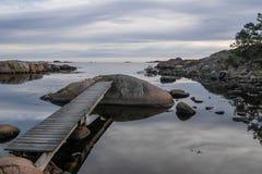 Vista del mare un il giorno soleggiato fotografie stock