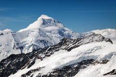 Vista del massiccio di Eiger, di Monch e di Jungfrau, alpi svizzere, Svizzera, Europa Immagine Stock Libera da Diritti