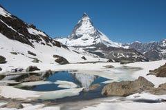 Vista del Matterhorn Fotografia Stock Libera da Diritti