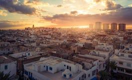 Vista del Medina y el kasbah del castillo en Sousse Imagen de archivo libre de regalías
