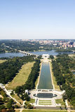 vista del memoriale di Lincoln Fotografia Stock Libera da Diritti