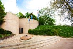 Vista del memoriale eterno della fiamma a Lussemburgo Fotografia Stock