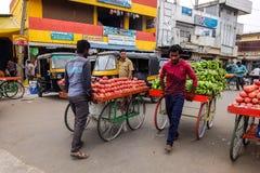 Vista del mercado de Devaraja en Mysore, la India fotografía de archivo libre de regalías