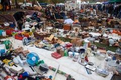 Vista del mercato delle pulci Fotografie Stock
