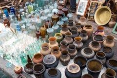 Vista del mercato delle pulci Fotografie Stock Libere da Diritti