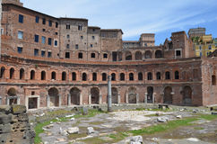 Vista del mercato di Trajan. Roma fotografia stock libera da diritti