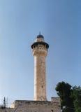 Vista del minareto di Asbat fotografie stock