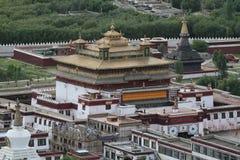 Vista del monastero buddista Samye Immagini Stock Libere da Diritti