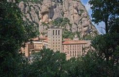 Vista del monastero del benedettino del Montserrat Immagine Stock