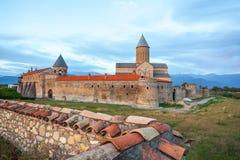 Vista del monastero di Alaverdi - monastero ortodosso orientale georgiano immagini stock