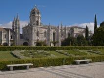 Vista del monastero di Jeronimos a Lisbona, Portogallo immagini stock