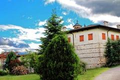 Vista del monastero di Rozhen immagine stock