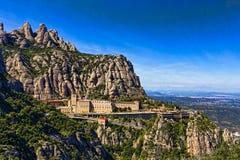 Vista del monastero Montserrat Immagine Stock Libera da Diritti