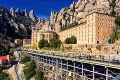 Vista del monastero Montserrat Fotografie Stock Libere da Diritti