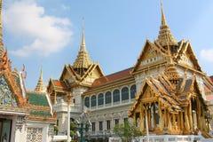 Vista del monastero reale del Buddha verde smeraldo Immagini Stock Libere da Diritti