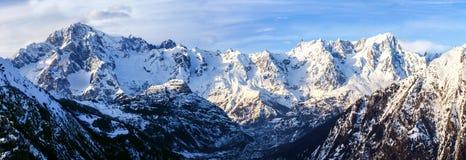 Vista del Monte Bianco Fotografia Stock