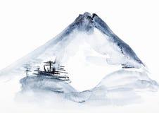 Vista del monte Fuji royalty illustrazione gratis