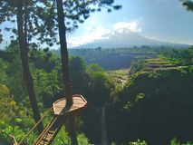 Vista del monte Merapi immagine stock
