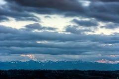 Vista del monte Rainier nello stato di Washington fotografie stock libere da diritti