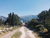 Vista del Montenegro immagini stock