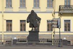 Vista del monumento Dominic Trezzini en St Petersburg Fotos de archivo