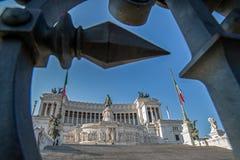 Vista del monumento nazionale a Victor Emmanuel II Fotografia Stock