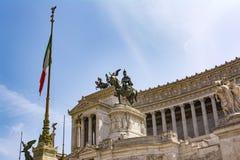 Vista del monumento nazionale Vittorio Emanuele II, piazza Venezia a Roma, Italia Immagine Stock Libera da Diritti
