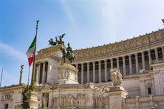 Vista del monumento nazionale Vittorio Emanuele II, piazza Venezia a Roma, Italia Fotografie Stock Libere da Diritti
