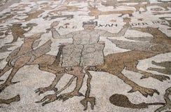 Vista del mosaico famoso de la catedral de Otranto - Alexander el grande Puglia, Italia Imagen de archivo libre de regalías