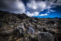 """Vista del mountain× asombroso """"de Nueva Zelanda fotos de archivo libres de regalías"""