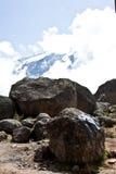 Vista del Mt kilimanjaro fotografie stock libere da diritti