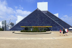 Vista del museo del rock-and-roll, Ohio, los E.E.U.U. Imagen de archivo libre de regalías