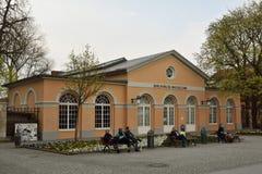 Vista del museo di Bauhaus dell'alloggio della costruzione a Weimar Fotografia Stock Libera da Diritti