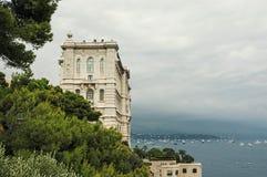 Vista del museo oceanografico Fotografia Stock Libera da Diritti