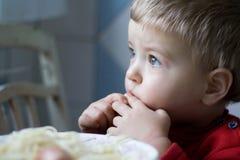 Vista del niño Imagenes de archivo