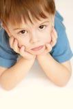 Vista del niño Fotos de archivo