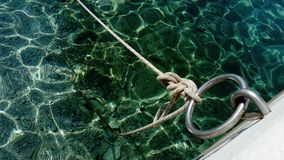 Vista del nodo del barco Imagen de archivo