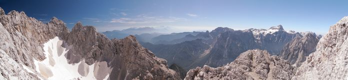 Vista del nord da Skrlatica Fotografia Stock