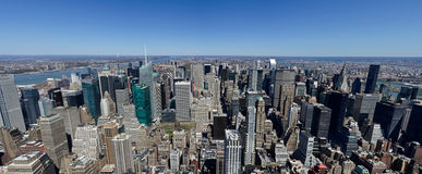 Vista del nord delle Empire State Building Immagini Stock