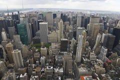 Vista del nord di Manhattan fotografie stock libere da diritti