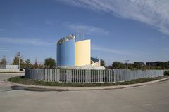 Vista del nord moderna della stazione TX di Carrollton Frankford Fotografia Stock