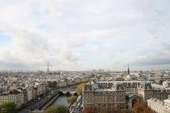 Vista del Notre Dame Fotografia Stock Libera da Diritti