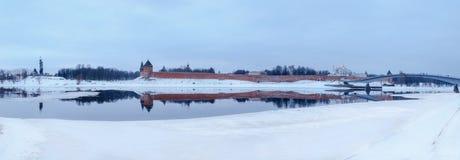 Vista del Novgorod el Kremlin en invierno Fotografía de archivo libre de regalías