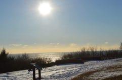 Vista del océano del faro Fotografía de archivo