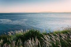 Vista del Océano Pacífico en Rancho Palos Verdes imagen de archivo libre de regalías