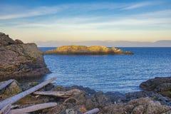 Vista del océano que pasa por alto el estrecho de Georgia del cuello Po Foto de archivo libre de regalías