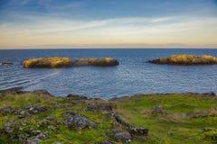 Vista del océano que pasa por alto el estrecho de Georgia del cuello Po Fotografía de archivo libre de regalías
